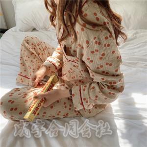 上下セット パジャマ レディース ルームウェア 長袖 前開き ロングパンツ ゆったり シャツパジャマ セットアップ 女性 可愛い 韓国風 寝巻き 部屋着 20代 30代|seiu