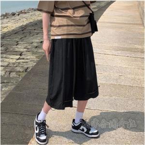 クロップドパンツ メンズ ショートパンツ 短パン おしゃれ ズボン サマーパンツ スポーツパンツ カジュアル ストレートパンツ スポーツパンツ 運動着 チノパン seiu