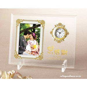 (結婚式披露宴両親プレゼント)アンティーククロックフレーム 心から感謝 C01702-01|seiwayhouse