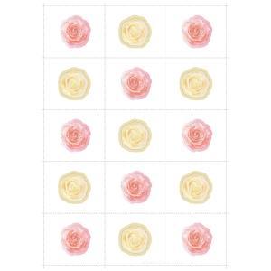 シェリールメモリーボードフラワーリース追加用メッセージシール(花)1枚|seiwayhouse