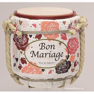 (結婚式披露宴演出)ミニ鏡開き こも樽 マリッジ ピンク|seiwayhouse