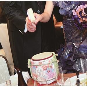(結婚式披露宴演出)ミニ鏡開き こも樽 マリッジ ピンク|seiwayhouse|04