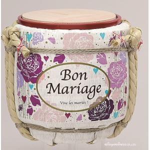 (結婚式披露宴演出)ミニ鏡開き こも樽 マリッジ ピンク|seiwayhouse|05