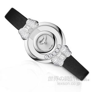 ショパール 209425-1001 ハッピーダイヤモンド アイコン ウォッチ (リボン)...