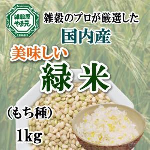 緑米 1kg 送料無料 希少種 雑穀のマイスターが厳選したおいしい緑米 クロロフィル豊富|sekainoyamgen