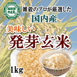 発芽玄米 1kg ギャバが豊富 送料無料 雑穀のマイスターが厳選したおいしい発芽玄米|sekainoyamgen