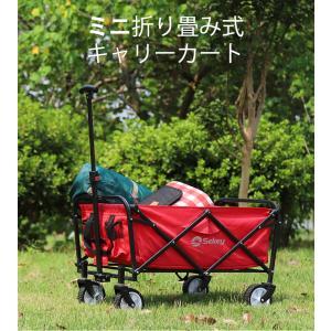 Sekey ミニキャリーカート軽量 小型 折り畳み式 耐荷重80kg アウトドア 室内 多用途 組み立て不要 ワゴン 収納ケース付き 1年保証 赤 sekey-online