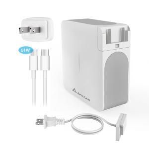 Salcar【PSE認証】61W type-c コネクタ Macbook Pro 互換 AC 電源アダプタ PC/携帯/スマホ 13 inch アップル USB-C 充電器 パワーサプライ 1年保証 …|sekey-online