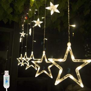 Salcar 138球USB式 2M*1M LEDイルミネーションライト 電飾 祝日 飾り付け 防水防雨仕様 窓飾り カーテンライト クリスマスライト リモコン付き|sekey-online