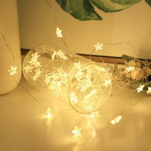 Salcar 10m100球USB式イルミネーションライト 星型 結婚式 クリスマス ハロウィーン 電球色|sekey-online