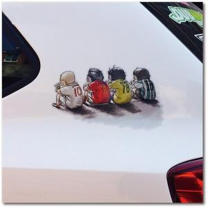 カー用品 おしゃれ 可愛 面白い 車用シール ステッカー TT002|seki