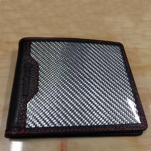 リアルカーボン 本革 レザー 財布 サイフ ウォレット 小銭入れ お札入れ 小物 カード入れ 即納 ファッション XJ006|seki