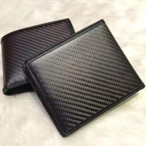 リアルカーボン 本革 レザー 財布 サイフ ウォレット 小銭入れ お札入れ 小物 カード入れ 即納 ファッション XJ007|seki