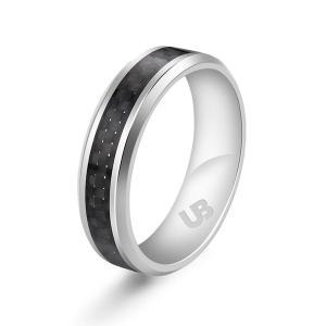リアルカーボン指輪 リング 魅力 ファッション お洒落 綺麗 メンズ 個性 飾り ギフト  XJ012|seki