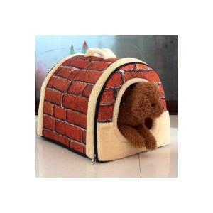 ドッグベッド 犬/ネコ小屋 ペット用品 かわいい ふわふわ 取り外し可 ドッグ  サイズS-L|seki