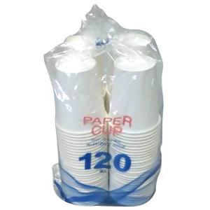 即日出荷 ペーパーカップ 120個組 205ml 紙コップ/アウトドア/使い捨て|sekichu