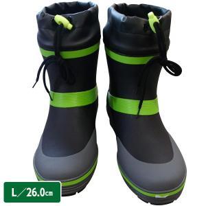 ショートカラーブーツ RMM-382 ブラック L 26.0cm 台風/豪雨/ショート丈/メンズ/長靴|sekichu