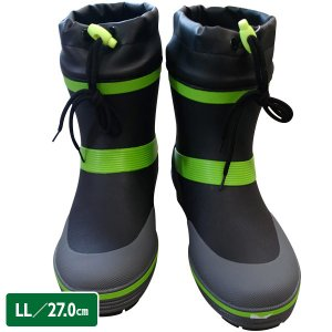 ショートカラーブーツ RMM-382 ブラック LL 27.0cm 台風/豪雨/ショート丈/メンズ/長靴|sekichu