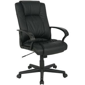 直送 代引/日時指定不可 PUチェアーBK HPU-BK ブラック オフィスチェアー/椅子/パソコンチェアー|sekichu