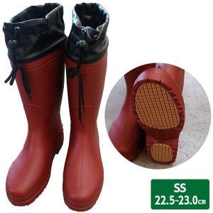 軽量長靴 SS ワイン 22.5〜23.0cm 台風/豪雨/レディース|sekichu
