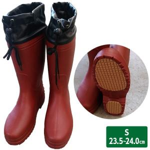 軽量長靴 S ワイン 23.5〜24.0cm 台風/豪雨/レディース|sekichu