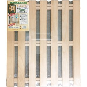 天然木「桐」押入れすのこワイドタイプ 7枚打ち 2枚組|sekichu