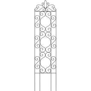 デザイントレリス スリム1800 GSTR-RC17S ガーデニング/ガーデンフェンス大型商品|sekichu