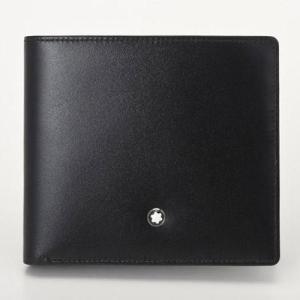 MONTBLANC モンブラン 7164 ブラック 二つ折り財布...