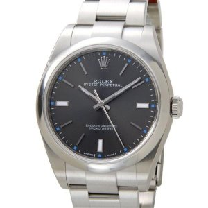 ロレックス ROLEX オイスターパーペチュアル39 114300 ダークロジウム 腕時計 メンズ|sekido