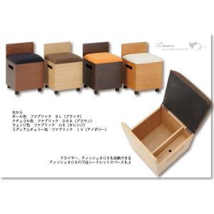 ドレッサー用椅子 箱椅子I 収納付き キャスター付き 4色 選べるファブリック 送料無料|sekimotokagu