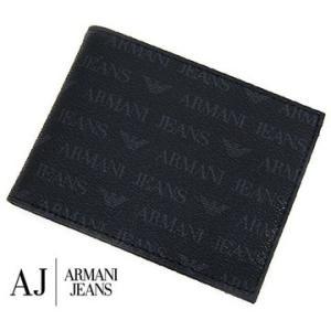 ARMANI JEANS アルマーニジーンズ 小銭入れ付 メンズ用二つ折り財布 ブラック 06V2F J4 12 NERO|sekine