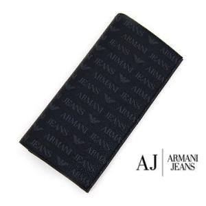 ARMANI JEANS アルマーニジーンズ 小銭入れ付 メンズ用長財布 ブラック 06V2O J4 12 BLACK|sekine