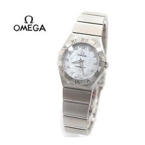 OMEGA  オメガ レディース 腕時計 コンステレーション クオーツ 24MM シルバー×ホワイトシェル×12Pダイヤ 123.10.24.60.55.001|sekine
