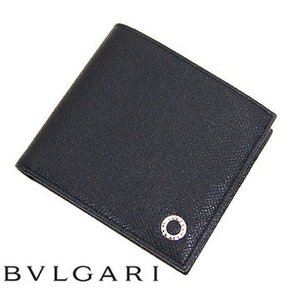 BVLGARI ブルガリ 30396 グレインレザー ブルガリブルガリ 小銭入れ付 二つ折り財布 メ...