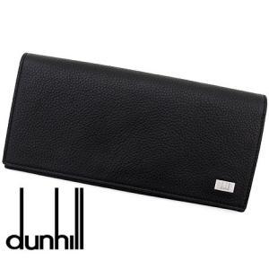 dunhill ダンヒル L2R910A AVORITIES アボリティーズ レザー メンズ用 小銭入れ付 長財布 ブラック|sekine