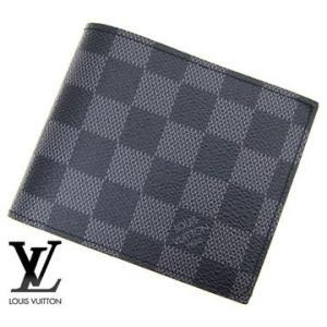 LOUIS VUITTON  ルイヴィトン N63336 ダミエ・グラフィット 小銭入れ付き 二つ折り財布 ポルトフォイユ・マルコ 新型|sekine