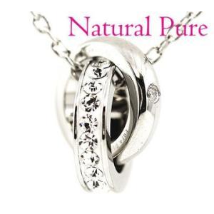 Natural Pure ナチュラルピュア NP-010 ノンアレルギー ステンレス ダイヤモンド 0.005ct ネックレス/ペンダント エタニティタイプ アクセサリー|sekine