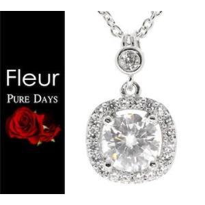 PURE DAYS Fleur ピュアデイズ フルール PFL-002 ネックレス ペンダント アクセサリー キュービックジルコニア シルバー sekine