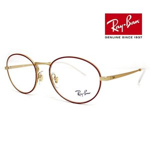 Ray Ban レイバン RX6439 3052 52 伊達眼鏡 メガネフレーム オーバル レッド ゴールド 正規品|sekine