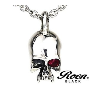 RoenBLACK ロエン ブラック RO-003 アクセサリー スカルチャーム ネックレス シルバー925 sekine