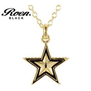 RoenBLACK ロエン ブラック RO-606 アクセサリー スター エトワール 星形 リバーシブル ネックレス ペンダント ゴールド sekine