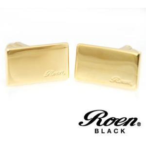 RoenBLACK ロエン ブラック ROT-102 カフス メンズ 2PCS/1セット ゴールド sekine