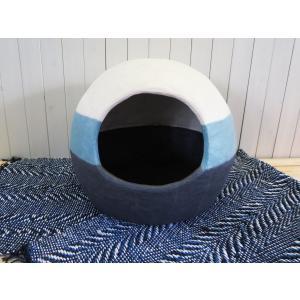 通気性も保温性も抜群!リペア可能           手漉き和紙の猫ハウス チョビータ          化学的な糊や接着剤は不使用 |sekishu-kachijiwashi