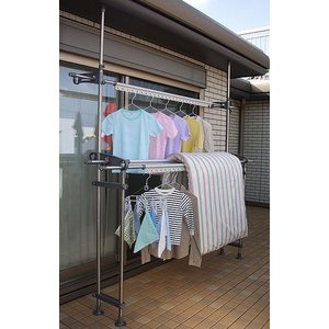 物干し セキスイ ベランダ用 つっぱり式ものほしスタンドポールDSL-10|sekisui-onlineshop