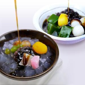 夏季限定 甘納豆あんみつ 抹茶しらたま 4個セット/甘納豆の雪華堂|sekkado