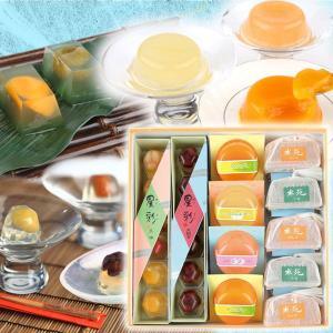 お中元/3種のゼリー涼菓セット/ひんやり夏の和菓子/甘納豆の雪華堂|sekkado
