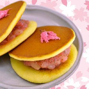春季限定 桜どらやき 5個詰合/甘納豆の雪華堂|sekkado