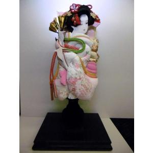 羽子板立飾り 雅ピンク刺繍入り13号 (横幅23cm・奥行1...