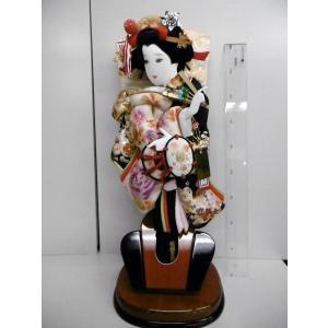 羽子板飾り台付き 金駒日本刺繍 押絵15号 (台19cmx1...