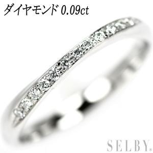 Pt950 ダイヤモンド リング D0.09ct SELBY